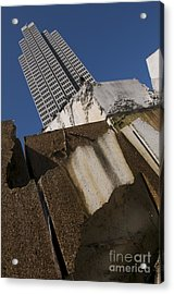 Acrylic Print featuring the photograph Building Out Of Concrete by Sherry Davis