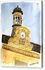 Building Top Paris Acrylic Print