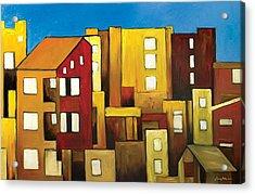 Buildings Acrylic Print by Ahmed Amir