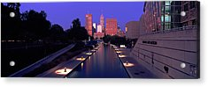 Buildings Along A Canal, Indiana Acrylic Print by Panoramic Images