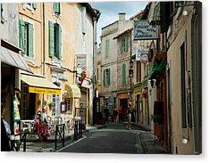 Buildings Along A Street, Rue Porte De Acrylic Print