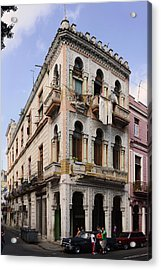 Buildings Along The Street, Havana, Cuba Acrylic Print