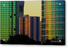 Buildings At Sunset Acrylic Print