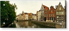 Buildings At The Waterfront, Bruges Acrylic Print