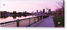 Buildings At The Waterfront, Genesee Acrylic Print by Panoramic Images