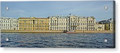 Buildings At The Waterfront, Winter Acrylic Print
