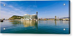 Buildings At Waterfront, Barcelona Acrylic Print