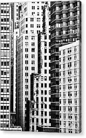 Buildings Bw Acrylic Print by Bruce Bain