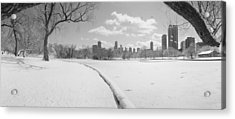 Buildings In A City, Lincoln Park Acrylic Print by Panoramic Images