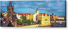Buildings In A City, Prague, Czech Acrylic Print by Panoramic Images