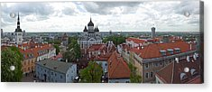Buildings In A City, St. Nicholas Acrylic Print by Panoramic Images