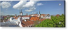 Buildings In A City, St Olafs Church Acrylic Print by Panoramic Images