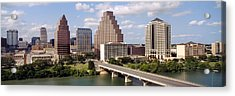 Buildings In A City, Town Lake, Austin Acrylic Print by Panoramic Images