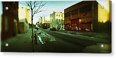 Buildings In A City, Williamsburg Acrylic Print by Panoramic Images
