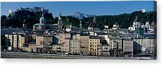 Buildings In A City With A Fortress Acrylic Print