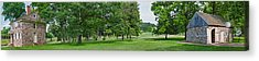 Buildings In A Farm, Washingtons Acrylic Print by Panoramic Images