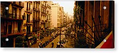 Buildings In A Row, Catalonia Acrylic Print by Panoramic Images