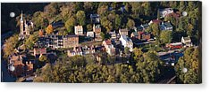 Buildings In A Town, Harpers Ferry Acrylic Print by Panoramic Images
