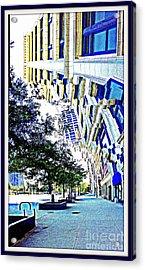 Buildings In Flux Acrylic Print by Scott Dixon