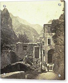 Buildings In The Valle Dei Molini, Amalfi Acrylic Print by Artokoloro