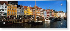 Buildings On The Waterfront, Nyhavn Acrylic Print by Panoramic Images