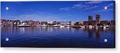 Buildings On The Waterfront, Oslo Acrylic Print by Panoramic Images