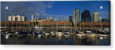 Buildings On The Waterfront, Puerto Acrylic Print