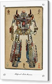 Built American Tough Robot No.2 Acrylic Print by Jeff Steed