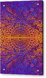Bukhara Flower Dome Acrylic Print