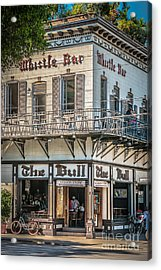 Bull And Whistle Key West - Hdr Style Acrylic Print