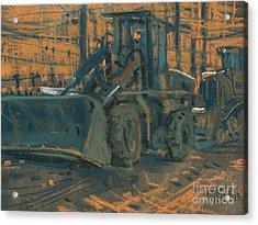 Bull Dozer Acrylic Print by Donald Maier