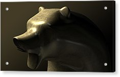 Bull Market Bronze Casting Contrast Acrylic Print by Allan Swart