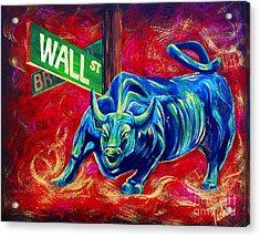 Bull Market Acrylic Print by Teshia Art