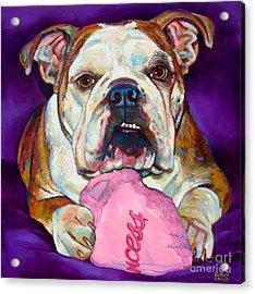 Acrylic Print featuring the painting Bulldog Princess by Robert Phelps