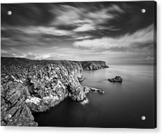 Bullers Of Buchan Cliffs Acrylic Print by Dave Bowman