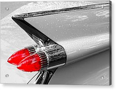 Bullet Tail Lights Acrylic Print by Jim Hughes