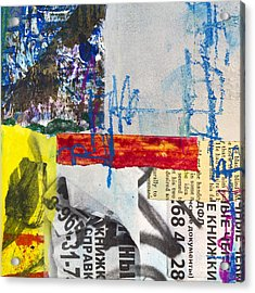 Bulletin Board Acrylic Print by Elena Nosyreva