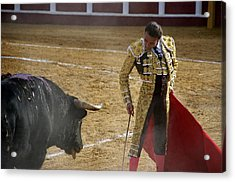 Bullfighter Manuel Ponce Performing During A Corrida In The Bullring Acrylic Print