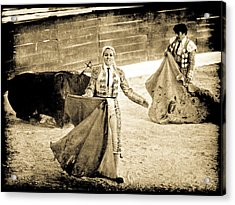Bullfighting Blond Acrylic Print