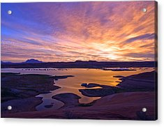 Bullfrog Marina Sunrise  Acrylic Print