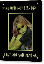 Bully Acrylic Print by Karen Walzer