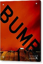 Bump Acrylic Print by Newel Hunter