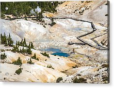 Bumpass Hell In Lassen Volcanic National Park Acrylic Print