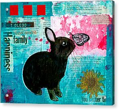 Bun And Butterfly Acrylic Print