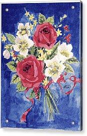 Bunch Of Flowers Acrylic Print by Alban Dizdari