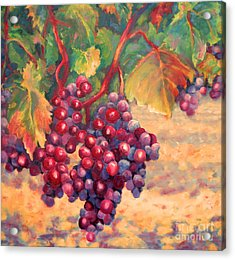Bunch Of Grapes Acrylic Print by Carolyn Jarvis