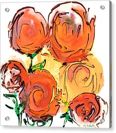 Bunch Of Roses Acrylic Print