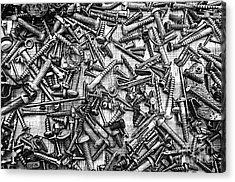 Bunch Screws 2 - Digital Effect Acrylic Print by Debbie Portwood