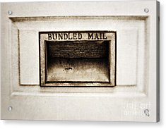 Bundled Mail Acrylic Print by Scott Pellegrin