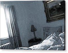Bungalow Bedroom Acrylic Print by David Blank